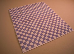 "1/2"" Scale World Model Light Blue Checked Faux Wall or Floor Tile"