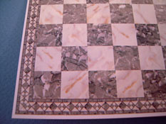 "1/2"" Scale Miniature Gray Faux Marble Tile"