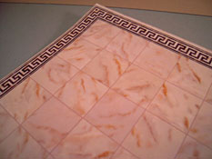 "1"" Scale Miniature Beige Faux Marble Tile"