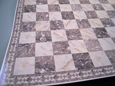 "1"" Scale Miniature Gray Faux Marble Tile"