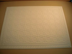 "1"" Scale Miniature White Faux Tin Ceiling Panel"