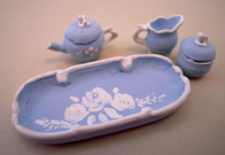 "Warwick 1/2"" Scale China Blue Fancy Tea Set"