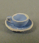 "Warwick 1/2"" Scale Miniature Porcelain Cup and Saucer"