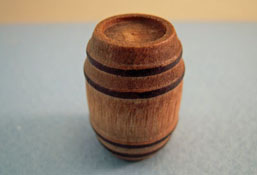 "Island Crafts 1/2"" Scale Wooden Barrel"