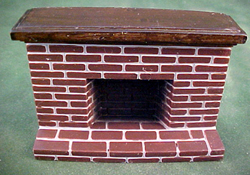 "Townsquare 1/2"" Scale Red Brick Miniature Fireplace"