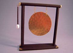 "Alice Zinn 1"" Scale Oriental Gong With Striker"