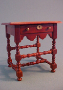 "International Dollhouse Miniatures 1"" Scale Tudor Night Stand"