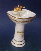Reutter Victorian Rose Pedestal Sink