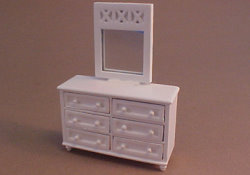 "1/2"" Scale White Dresser Set by Lee's Line"
