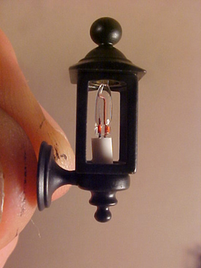 "1/2"" black coach lamps"