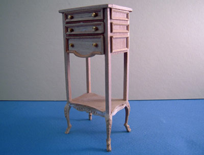 """1"""" scale miniature Bespaq unfinished library stand"""