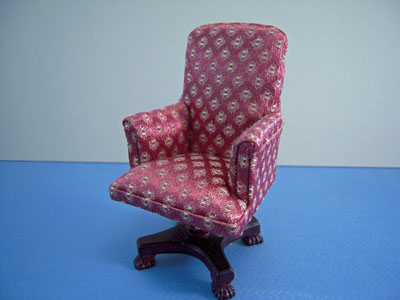"1"" scale Bespaq miniature Chesterson swivel chair"