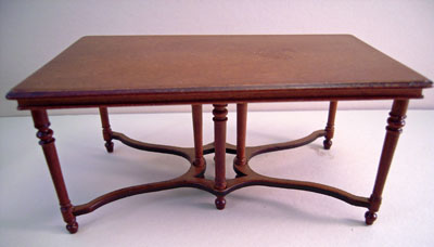 "1"" scale Bespaq Ruby Red Dining Table"