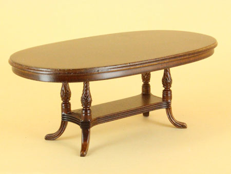 "1"" scale Bespaq Hilton Dining Table walnut"