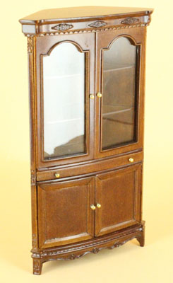"1"" scale walnut Bespaq Hilton China Cabinet"