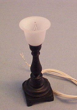 "2207-330 1"" black torchiere lamp"