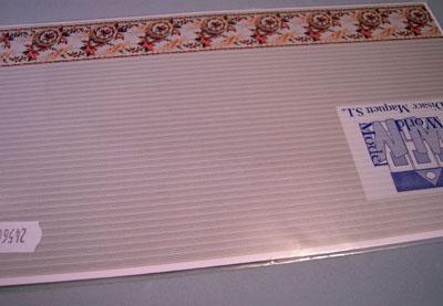 "wm24566 1/2"" scale light green striped bordered wallpaper"