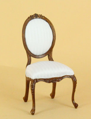 "1"" scale Bespaq Petite Francoise walnut side chair"