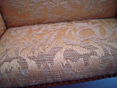 "1"" scale Bespaq walnut Italia gold fabric"