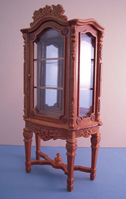 "1"" scale Bespaq walnut Italia Display Case"