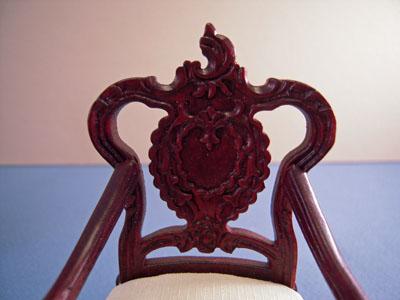 """1"""" scale Bespaq mahogany Wesmorland Chair"""