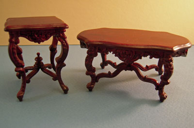 "1"" scale Bespaq mahogany Wesmorland Table Set"