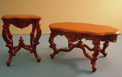 "1"" scale Bespaq Walnut Westmorland Tables"