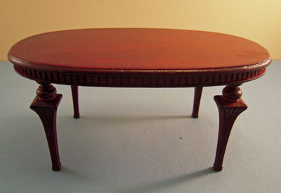 "Bespaq 1"" scale Mahogany Art Deco Table"