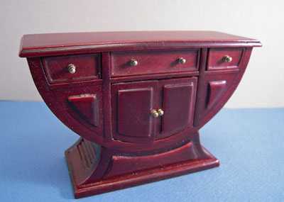 "1"" scale Bespaq Mahogany Art Deco Buffet"