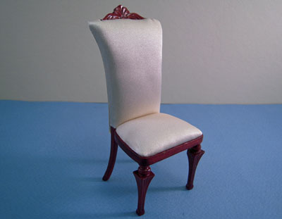 "1"" scale Bespaq Mahogany Art Deco Chair"
