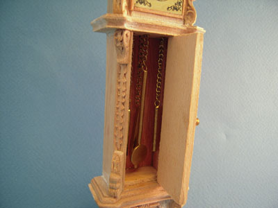 """1"""" scale unfinished Bespaq Chippendale Tall Clock"""