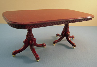 "1"" scale Bespaq Mahogany Martinique Pineapple dining table"