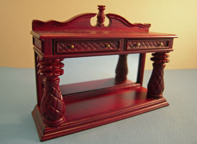 "1"" scale Bespaq Mahogany Martinique Pineapple dining buffet"