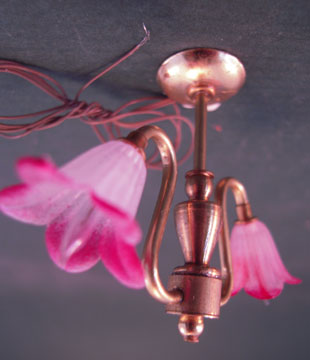 "2lpw 1"" scale two arm flower chandelier"