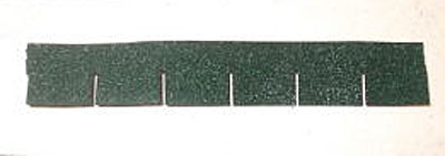 "1/2"" scale Alessio Miniatures green square asphalt shingles"