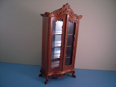 "1"" scale Bespaq miniature Venetian walnut cabinet"