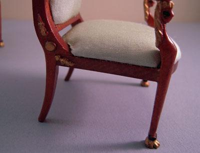 """1"""" scale bespaq desiree green salon chair"""
