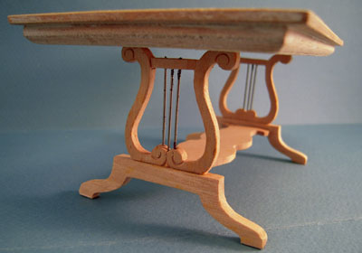 """1"""" Scale Bespaq Unfinished Lyre Dining Table"""