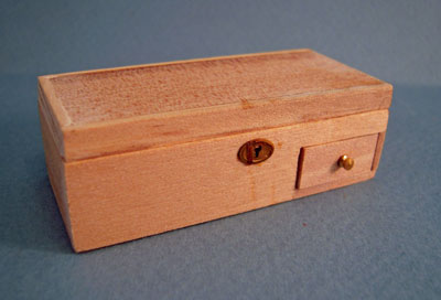 "1"" Scale Bespaq Wooden Unfinished Treasure Box"