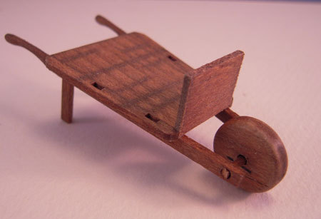 Sir Thomas Thumb Wooden Olde Time Wheel Barrow 1:24 Scale