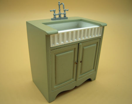 Bespaq Miss Paula's Green Three Piece Kitchen Set 1:12 Scale