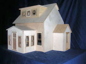 1:12 Scale Allesio East End Bungalow Dollhouse