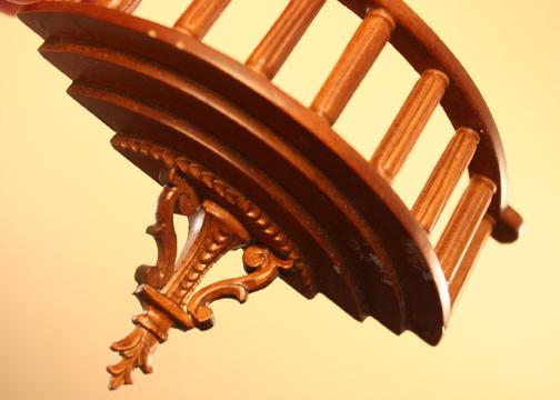 """836nwn 1"""" scale walnut romeo balcony"""