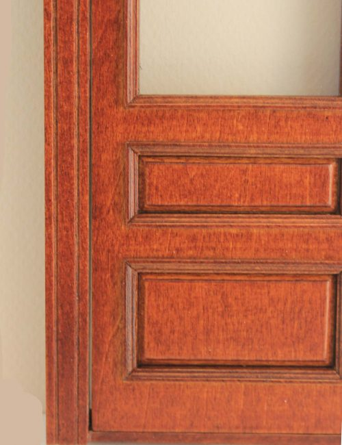 Majestic Mansions 1:12 Scale Windsor Single Walnut Exterior Door with Glass