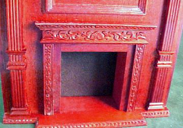 """1"""" scale Bespaq Mahogany Fireplace Wall Unit"""