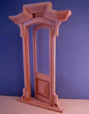 "1"" scale Bespaq single Victorian unfinished door"