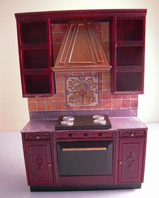 """1"""" Scale Bluette Bespaq Mahogany Kitchen Set"""