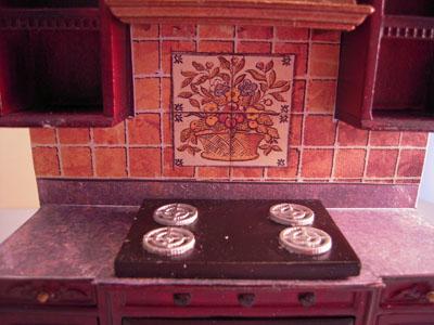 """1"""" scale bespaq mahogany bluette kitchen set"""