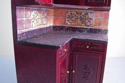 """1"""" scale mahogany bespaq bluette kitchen set"""