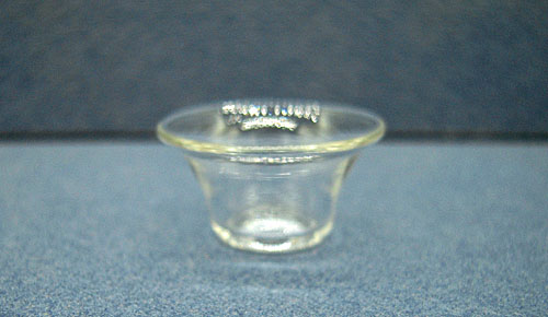 Clear Glass Salad Bowl 1:12 scale